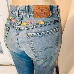 Lucky Brand Easy Rider Cropped Jeans w Embroidery